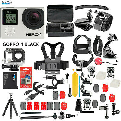 GoPro HERO4 Black Edition +50 Piece Hero 4 Accessory Kit Camera Camcorder