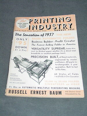 August 1937 The Printing Industry Publication