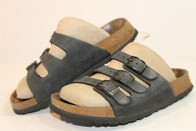9cfa018c01a0 BETULA BIRKENSTOCK USED Womens 5 36 Leather Strap Flat Sandals Shoes ...