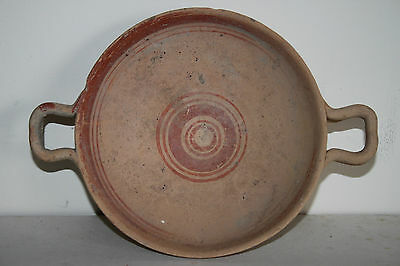 ANCIENT GREEK POTTERY HELLENISTIC STEM KYLIX 3rd  CENTURY BC
