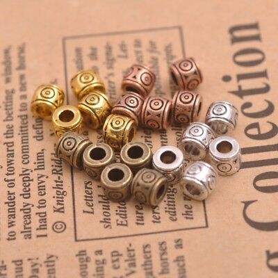 50Pcs Details about  Wholesale Tibetan Silver Beads Charms Jewelry 5x6MM F3155