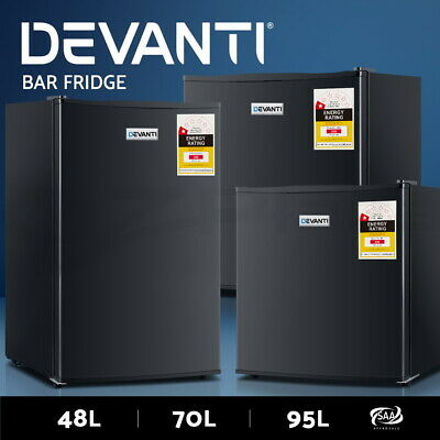 Devanti Bar Fridge Portable Mini Home Refrigerator Beer Freezer Office 48/70/95L