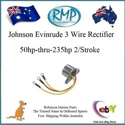 A New RMP Evinrude Johnson Outboard 3 Wire Rectifier 50hp-thru-235hp R 583408