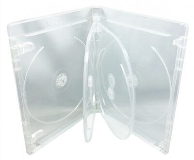 10 PREMIUM STANDARD Clear Blu-Ray 6 Disc DVD Cases 14mm