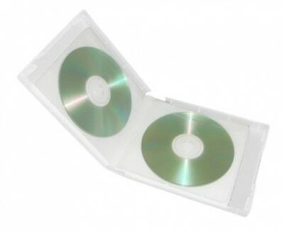 50 Clear 12 Discs VCD PP Poly Binder Sleeve Cases