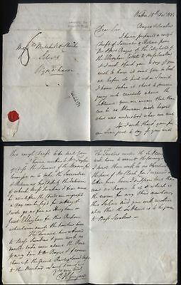 1834 WATTON postmarked Letter, E.H.Gregson to Wyndham, charged 6d