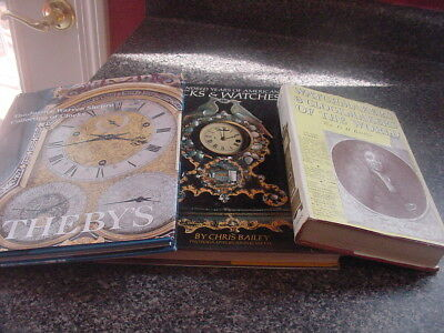 Clock Books (3) Watch & ClockMakers Sothebys and 200 Years of Clocks and Watches