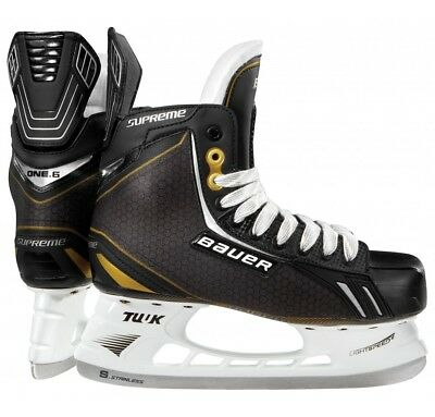 New Bauer Supreme 1001302 Junior 3.0 D One.6 Black/Yellow Ice Hockey Skates