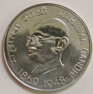 India Republic (1969) B - Proof Silver 10 Rupees - KM-185 - Mahatma Gandhi