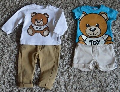 Moschino Next Baby Boy Designer Clothes Bundle Teddy Bear T-shirts Chinos Shorts