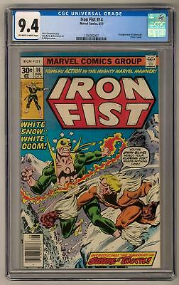 Iron Fist #14 CGC 9.4 (OW-W) 1st Appearance of Sabretooth