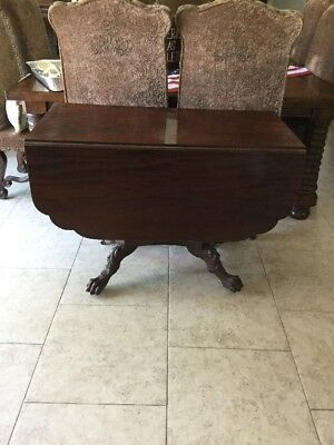 Antique carved Mahogany Side Table