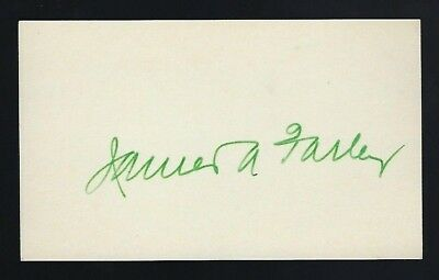 James Farley signed 3x5 card 53rd United States Postmaster General