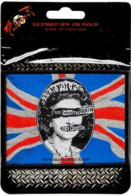 9dc6067965 Official Merch Woven Sew-on PATCH Punk Rock SEX PISTOLS God Save the Queen