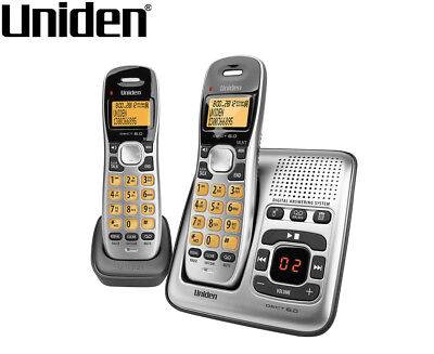 Uniden DECT 1735 + 1 Cordless Digital Phone System w/ Power Failure Backup - Sil
