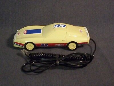 Vintage CORVETTE CHALLENGE EXXON  #93 Touch Tone Telephone Rings Only No Dialing