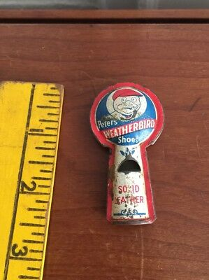 ANTIQUE EARLY 1900's - 20's  PETERS WEATHERBIRD SHOES TIN LITHO WHISTLE