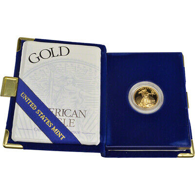 1999-W American Gold Eagle Proof (1/4 oz) $10 in OGP