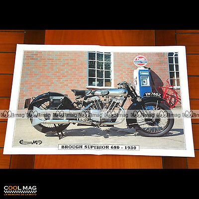 BROUGH SUPERIOR 680 1930 - Poster Moto Classic Motorcycle #PM1214