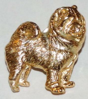 Vintage Gold Plate Over Pewter Chow Chow Pin