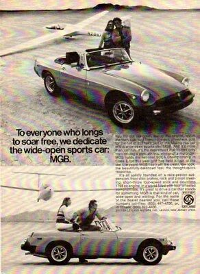 1977 MGB ad - Motor Trend Oct 1976 - VG black and white
