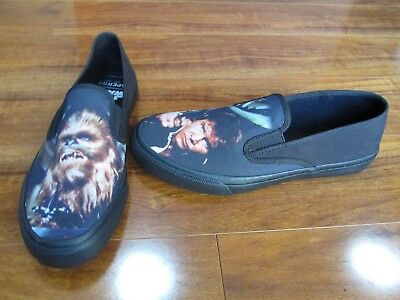 1137f5416f NEW LIMITED EDITION Sperry Star Wars Slip-On Shoes MENS 9 CHEWIE HANS SOLO   75 -  39.99