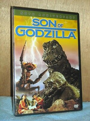 Son of Godzilla (DVD, 2004, 50th Anniv) scientists confronted by baby monsters N