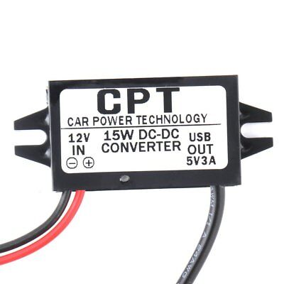 Car Auto Charger DC Converter Module 12V To 5V 3A 15W With Micro USB Cable Tool