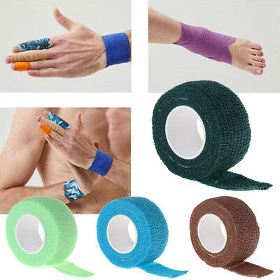 2pcs 5M Self-Adhesive Elastic Bandage First Aid Muscle Sport Health Care Fitness