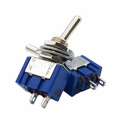 1pc MTS-101 2 Position Mini Toggle Switches 2 Pin SPST ON-OFF 6A 250VAC