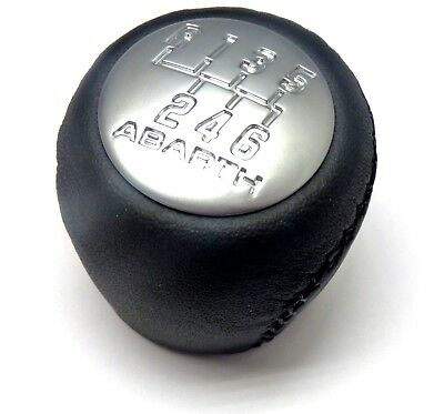 Grande Punto & Evo Abarth 6 Speed Black Leather Gear Knob Brand New Genuine