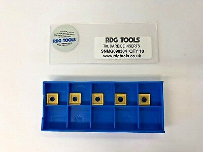 RDGTOOLS SNMG 09 CARBIDE TIPS / INSERTS / TURNING TOOLS PROFILE TIPS x5