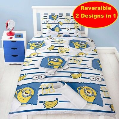 Despicable Me Awesome Single Duvet Quilt Cover Set Boys Bedroom Gift Children