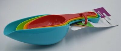 New Set Of 4 Colourful Kitchen Double Ended Measure Scoops 18423C
