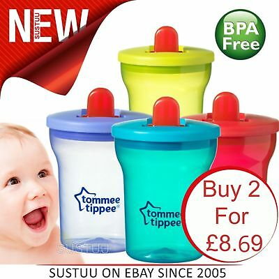 Tommee Tippee Essentials First Beaker Leak-Proof Spout Cups[200ml]│Pack Of 2│4m+