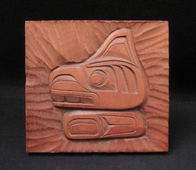 Signed Herman Bee First Nations Northwest Coast Kwakiutl Killer Whale Carving