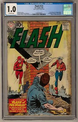 Flash #123 CGC 1.0 (OW) 1st G/A Flash in S/A Origin of Both 1st Mention of Earth