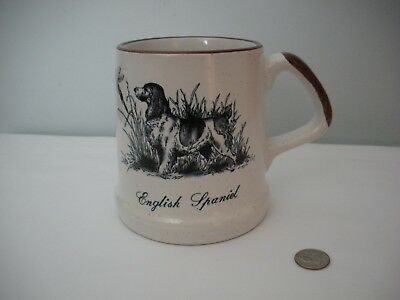 English Spaniel Mug, Enesco 1984, Heavy Mug Cup Excellent Pre-Owned Condition