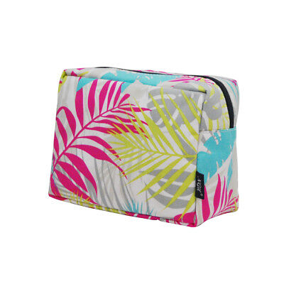 Tropical Palm Leaf NGIL® Large Cosmetic Travel Pouch