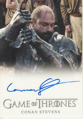Game of Thrones Full Bleed Style Autograph Card - Conan Stevens as Gregor