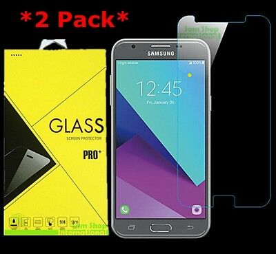 2Pack Tempered Glass Screen Protector For Samsung Galaxy J3 Emerge/Luna Pro 2017