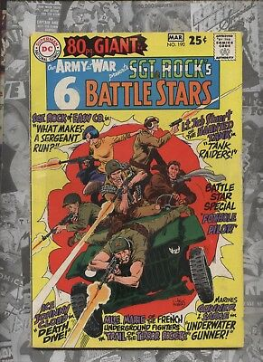 Our Army at War 190 Dc comic Sgt. Rock Kubert & heath art 80 pg Giant MLLE Marie