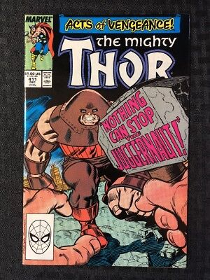 Thor #411 (NM) Thor vs Juggernaut