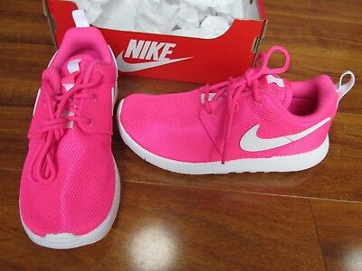 56bfe5eca0f4 NEW NIKE ROSHE ONE (PS) Running Shoes GIRLS 13C PINK WHITE 749422 ...