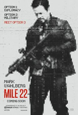 Mile 22 - original DS movie poster - 27x40 D/S Advance