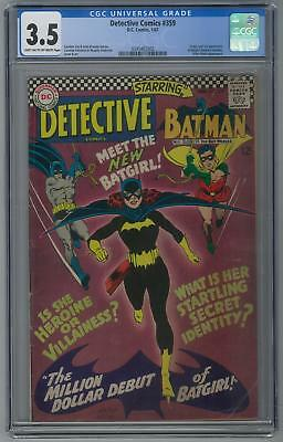 Detective Comics #359 CGC 3.5 (LT-OW) Origin and 1st appearance of Batgirl