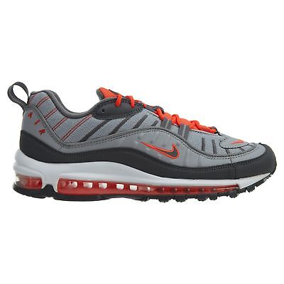 check out ba5e0 58277 Nike Air Max 98 Mens 640744-006 Total Crimson Wolf Grey Running Shoes Size  10