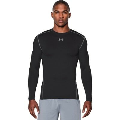 Under Armour ColdGear Compression Crew Neck Long Sleeve Shirt 1265650-001 LARGE
