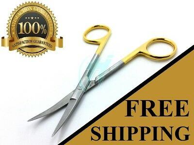 """Gold Handle Iris Micro Dissecting Scissors Curved 4.5"""""""