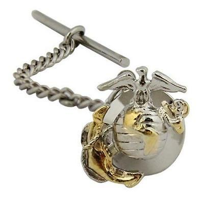 USMC  Marine Corps Tie Tac Tie Tack Officer  2 tone  (Made in USA)